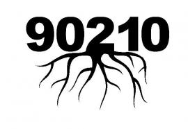 90210 Zip Code Roots sticker