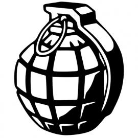 Granaat Motief 2 sticker