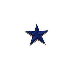 Army Ster Strijk Patch Blauw | 4,5 x 4,5 cm