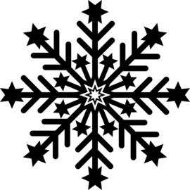 Sneeuwvlok Sticker Motief 7