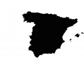 Spanje Map sticker