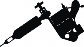 tattoo machine Gun sticker