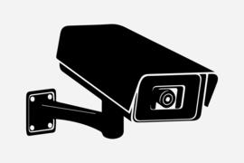 Bewakingscamera  Sticker Motief 6