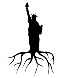 Statue of Liberty - New York State Home Roots  Sticker