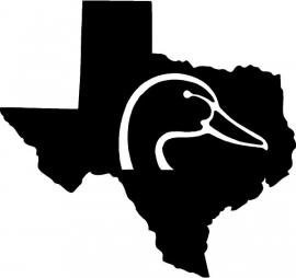 Texas State Duck Motief 2 sticker