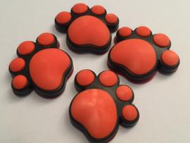 3D Honden / Katten poot Deurbeschermer Oranje | Set 4st.