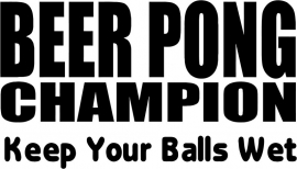 Beer Pong Champion Sticker