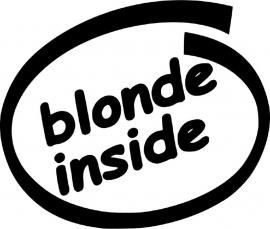 Blonde Inside sticker