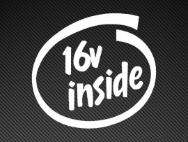 16V Inside sticker