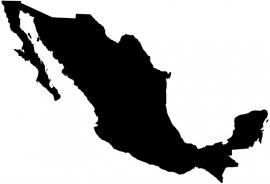 Mexico Map sticker