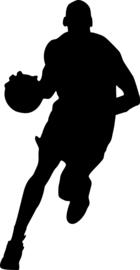 Basketbal Sticker Motief 2