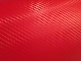 3D Carbon Folie Rosso Rood  30cm x 152cm