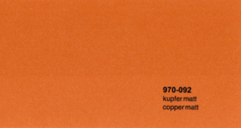 Oracal 970RA  092  Wrap Folie  Mat Koper Metallic