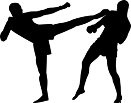 Kickboksen Sticker