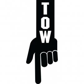 TOW Finger JDM Sticker
