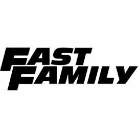 Fast Family  Paul Walker Tribute Sticker