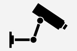 Bewakingscamera  Sticker Motief 3