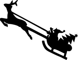 Kerstman Sticker Motief 2