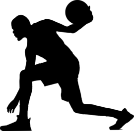 Basketbal Sticker Motief 1