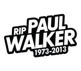 RIP Paul Walker Motief 1 Sticker