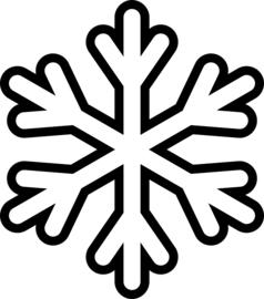 Sneeuwvlok Sticker Motief 2
