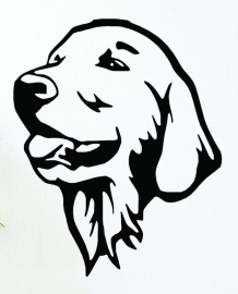 Golden Retriever Links sticker