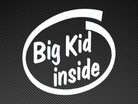 Big Kid Inside sticker