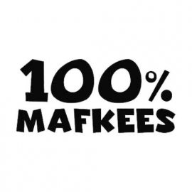 100% Mafkees Motief 1 Sticker