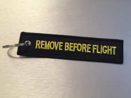 Remove Before Flight Sleutelhanger Zwart / Geel