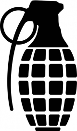 Granaat Motief 1 sticker