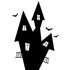 Spookhuis Sticker