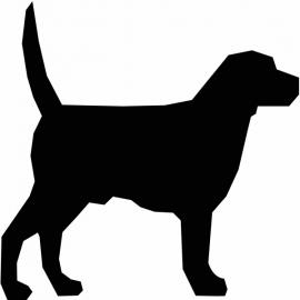 Hond motief 1 sticker