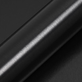 HEXIS Brushed Aluminium Coal Zwart