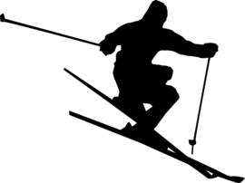 Skiën Sticker Motief 2