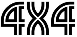 4x4 Motief 26 Sticker