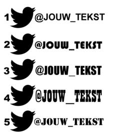 Twitter Eigen Tekst Sticker