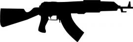 AK47 Motief 1 sticker
