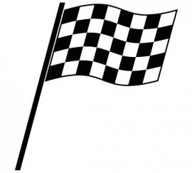 Race Vlag Motief 3  sticker