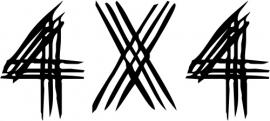4x4 Motief 2 Sticker
