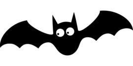 Halloween Vleermuis Sticker Motief 3