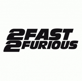 2 Fast 2 Furious Paul Walker Tribute Sticker