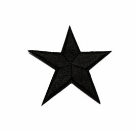 Army Ster Strijk Patch Zwart | 7 x 7 cm