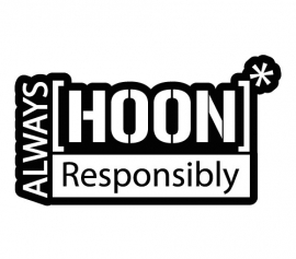 Always HOON Responsibly sticker