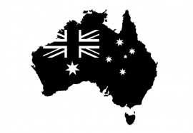 Australië Map sticker