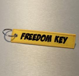 FREEDOM KEY Sleutelhanger | Geel