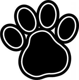Hondenpoot afdruk  1st.