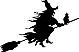 Halloween Heks Sticker Motief 2