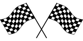 Race Vlag Motief 5  sticker