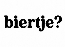 Biertje ? Sticker