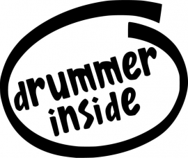 Drummer Inside sticker